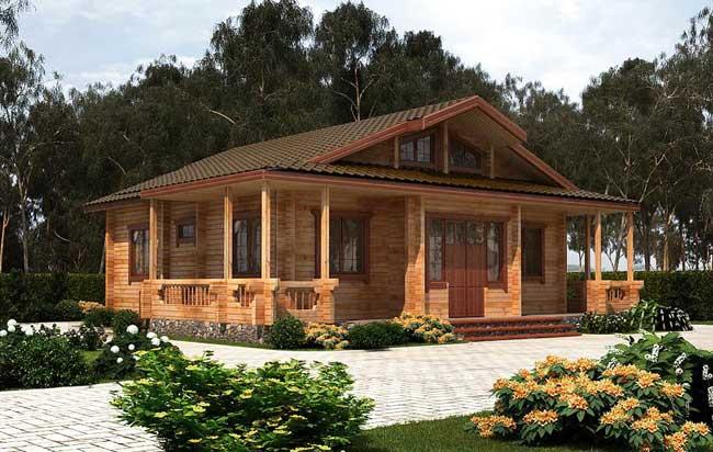 Проекта загородного дома из бруса